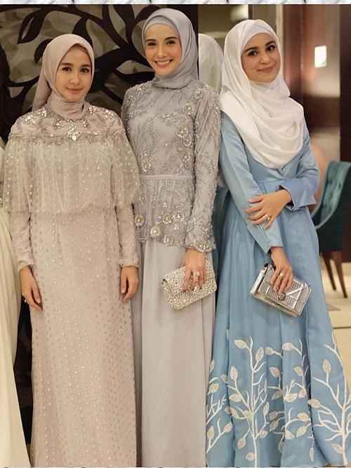 Inspirasi Desain Stylish Baju Pesta Muslimah